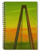Arthur Ravenel Jr Bridge V Spiral Notebook
