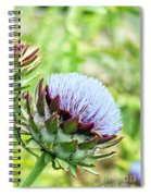 Artichoke Flower Spiral Notebook