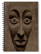 Artificial Intelligence Entity Sepia Spiral Notebook