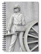 Artillery Detail On Monument Spiral Notebook