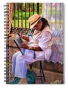 Artist At Work - Painting  Spiral Notebook
