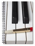 Artist Brush On Piano Keys Spiral Notebook