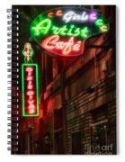 Artist Cafe Spiral Notebook