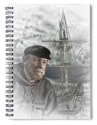 Artistic Digital Image Of An Old Sea Captain Spiral Notebook