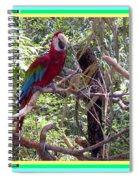 Artistic Wild Hawaiian Parrot Spiral Notebook