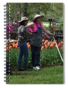 Artists Posing For Papparazzi Spiral Notebook