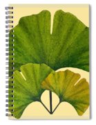 Arts And Crafts Movement Ginko Leaves Spiral Notebook