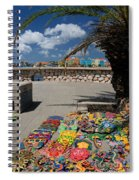 Artwork At Street Market In Curacao Spiral Notebook