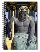 Artwork On The Public Fountains At Place De La Concorde In Paris France Spiral Notebook