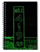 As Pure As It Gets In Green Neon Spiral Notebook