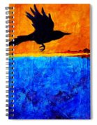 As The Crow Flies Spiral Notebook