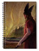 As The Flames Rise Odin Leaves Spiral Notebook