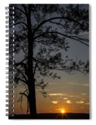 As The Sun Fades Behind The Mountian Spiral Notebook