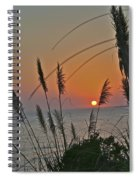 as the sun sets at Seascape Spiral Notebook