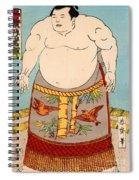 Asashio Toro A Japanese Sumo Wrestler Spiral Notebook