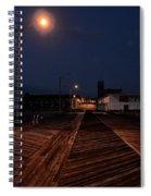 Asbury Park Boardwalk At Night Spiral Notebook