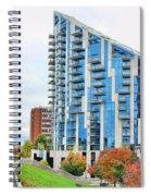 Ascent Building Near Roebling Bridge 9854 Spiral Notebook