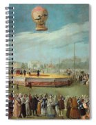 Ascent Of A Balloon In The Presence Of The Court Of Charles Iv Spiral Notebook