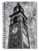 Ascona Clock Tower Bw Spiral Notebook