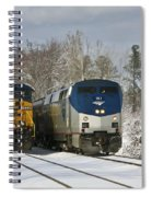 Ashland Trains In The Snow Spiral Notebook
