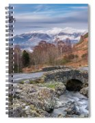 Ashness Bridge And Snow Capped Skiddaw Spiral Notebook