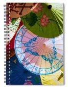 Asian Umbrellas Spiral Notebook