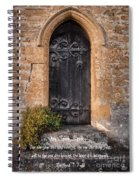 Ask Seek And Knock Spiral Notebook