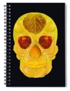 Aspen Leaf Skull 1 Black Spiral Notebook