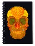 Aspen Leaf Skull 2 Black Spiral Notebook