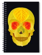 Aspen Leaf Skull 4 Black Spiral Notebook