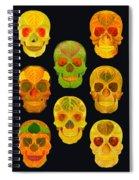Aspen Leaf Skulls Poster 2014 Black Spiral Notebook