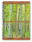 Aspen Tree Forest Autumn Picture Window Frame View  Spiral Notebook