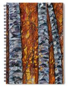 White Trees  Original Oil Painting  Spiral Notebook