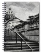 Aspirations In Black And White Spiral Notebook