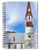 Aspiring Chapel Impasto Spiral Notebook