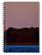Assateague Lighthouse At Sunset Spiral Notebook