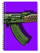 Assault Rifle Pop Art - 20130120 - V4 Spiral Notebook