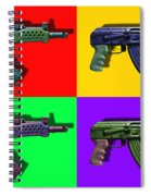 Assault Rifle Pop Art Four - 20130120 Spiral Notebook