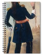 Assiniboine Warrior In Regimental Spiral Notebook