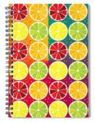 Assorted Citrus Pattern Spiral Notebook