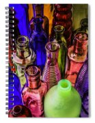 Assorted Colored Bottles Spiral Notebook