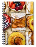 Assorted Tarts And Pastries Spiral Notebook