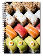 Assortment Of Sushi Spiral Notebook