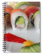 Assortment Of Sushi Maki Spiral Notebook