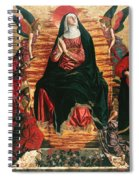 Assumption Of Mary With Sts Minias And Julian Spiral Notebook