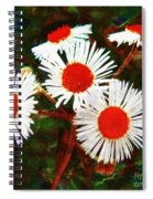 Asters Bright And Bold Spiral Notebook