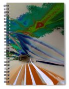 Astract Light Spiral Notebook