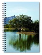 At Fountain Park - View At Red Rock Spiral Notebook