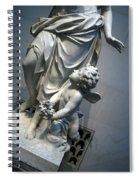 At Her Feet In A Garden Allegory Spiral Notebook