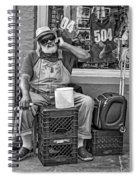 At His Office - Grandpa Elliott Small Bw Spiral Notebook